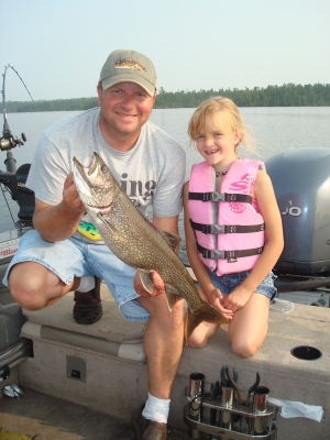 kids lake trout nw ontario