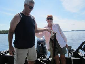 Glen and Connie Lake Trout 2011 Barker Bay Resort