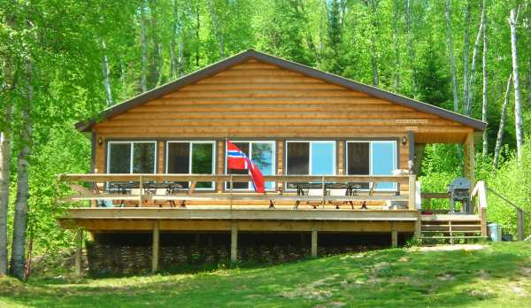 Lodge with new deck